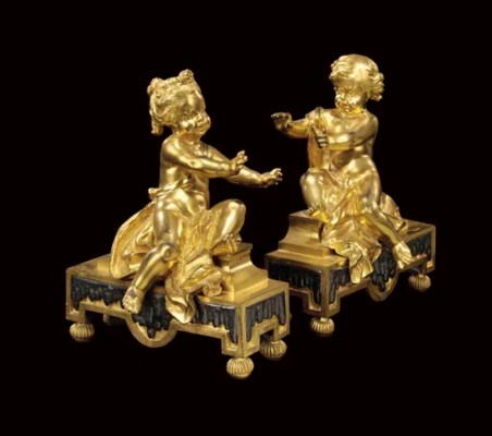A PAIR OF FRENCH ORMOLU AND SI