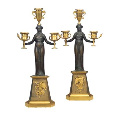 A PAIR OF DIRECTOIRE ORMOLU AN