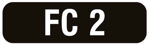Number plate : FC 2