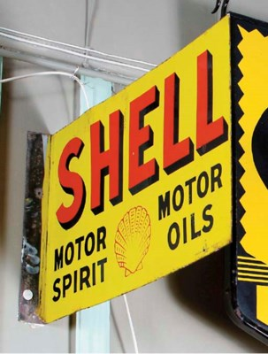 Shell - a double-sided sign.