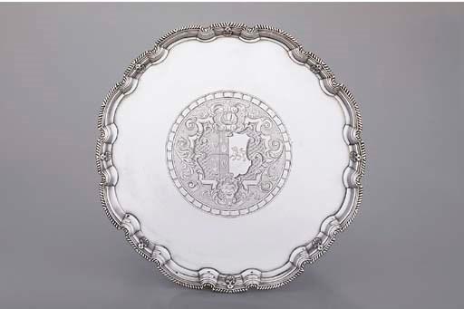 A George II silver salver