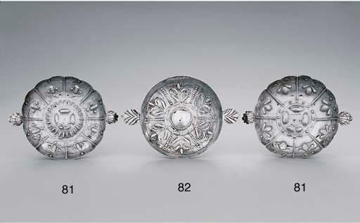 A Charles II silver sweetmeat-