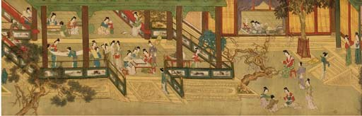 A Chinese painting on silk, 19