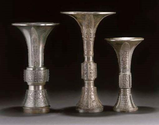 Three various Chinese bronze w