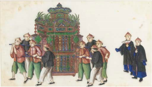 Ten Chinese paintings on ricep