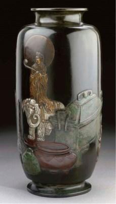 A large oviform bronze vase, 1