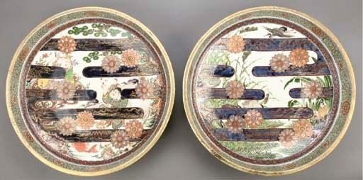 Two Imari chargers, 19th centu