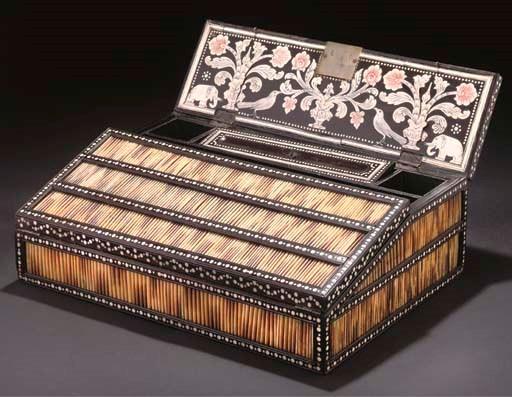 A MONGHYR WRITING BOX, SRI LAN