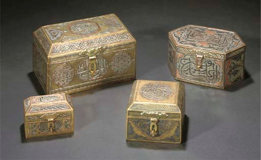 FOUR CAIROWARE BOXES AND COVER
