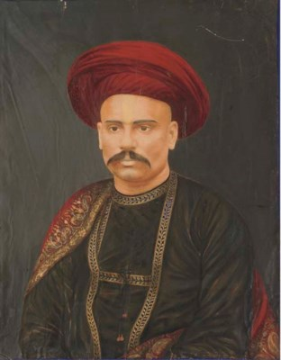 PORTRAIT OF A RULER, INDIA, 19