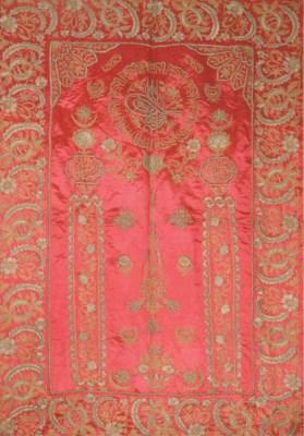 AN OTTOMAN PRAYER ARCH OF RED