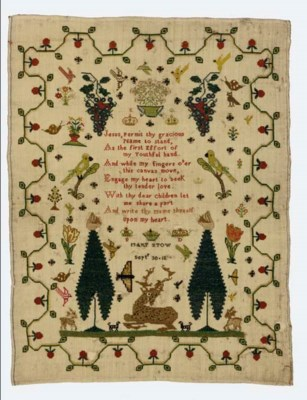 A SAMPLER BY MARY STOW DATED 1