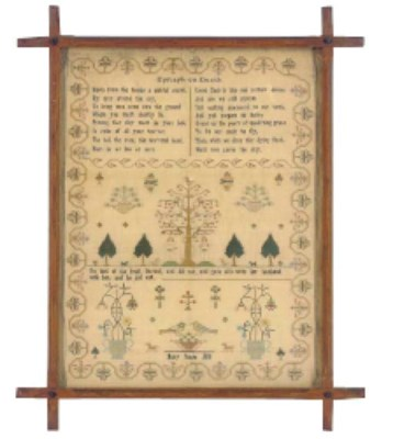 A SAMPLER BY MARY SCUSE DATED