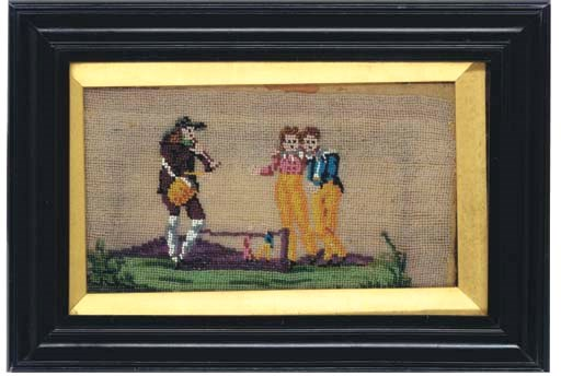 A PAIR OF BEADED PICTURES OF Y