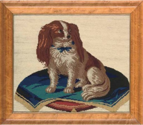 NEEDLEWORK PICTURE OF A SPANIE