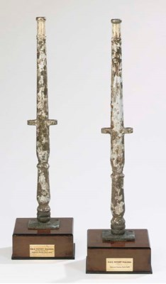 TWO STANCHIONS FROM HMS VICTOR