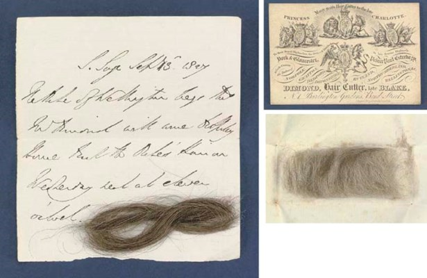 LOCKS OF HAIR FROM NELSON AND