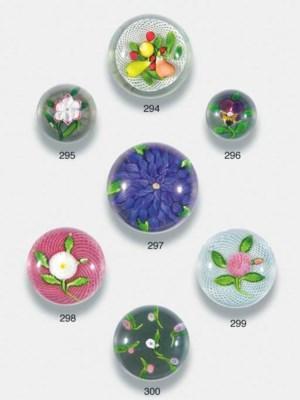 A Baccarat miniature primrose
