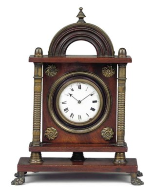 A Regency mahogany and brass-m
