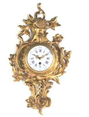 A French gilt-brass cartel tim