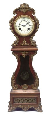 A French mahogany and brass-mo