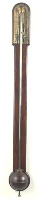 A George III mahogany stick ba