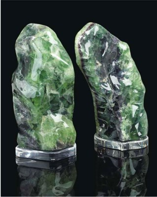 A large pair of polished fluor