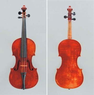 An English Violin by A. Warric