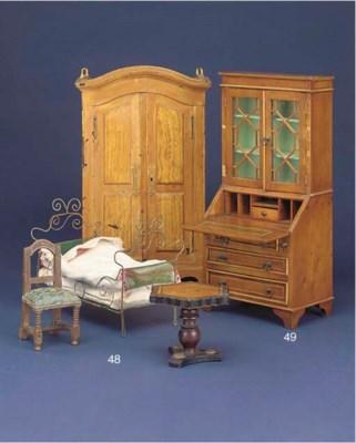 A miniature bureau bookcase