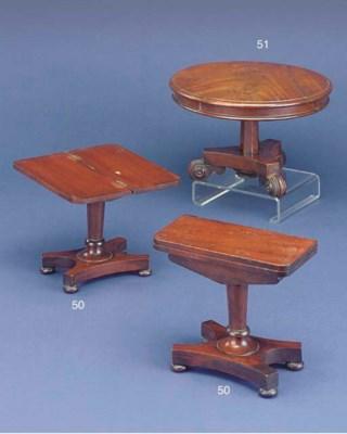 A fine miniature pair of mahog