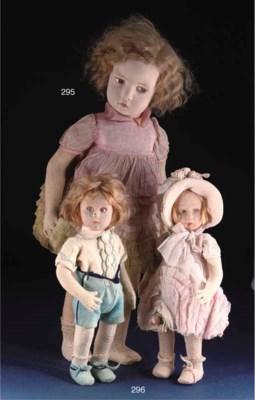 A Lenci pressed-felt girl doll