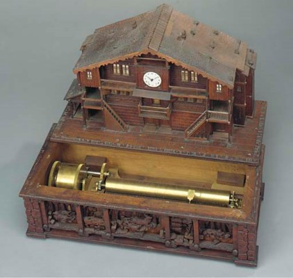 A Musical box in the form of a