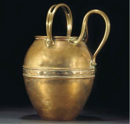W.A.S. BENSON; TWO HANDLED JUG