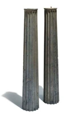 A pair of George III slate chi