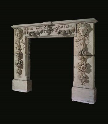 An English stone chimneypiece