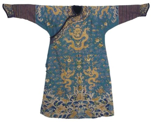 A FORMAL COURT ROBE OF BLUE SA