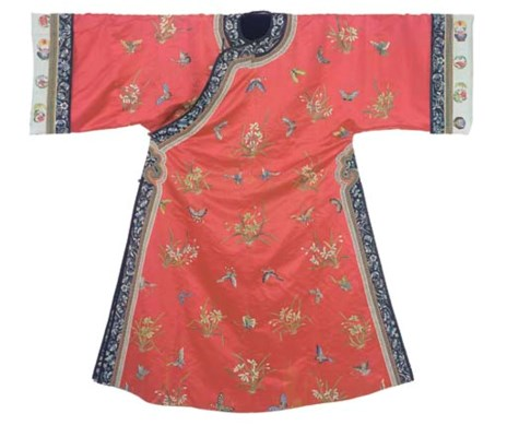 A LADY'S WEDDING ROBE OF RED S