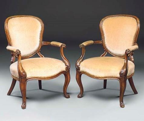A pair of North European walnu