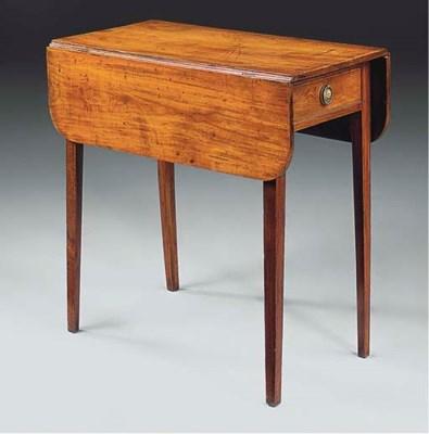 A fruitwood Pembroke table