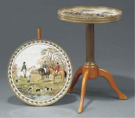 A pair of French Sevres-style