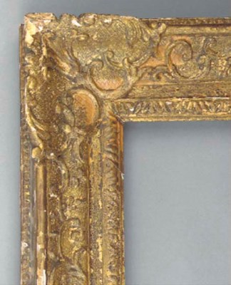 An  English carved and gilded