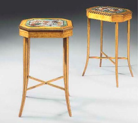 A PAIR OF SATINWOOD AND SPECIM