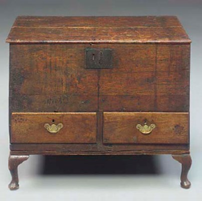 A WALNUT CHEST