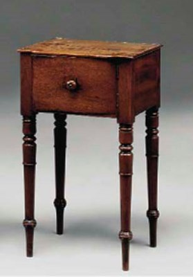 A REGENCY MAHOGANY POT CUPBOAR