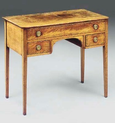 A MAHOGANY BEDSIDE TABLE