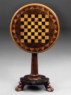 AN EARLY VICTORIAN ROSEWOOD, B