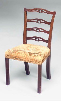 A MAHOGANY CHILD'S CHAIR