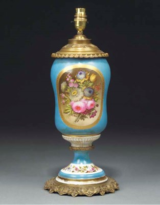 A French sevres style porcelai