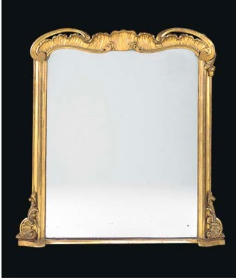 AN EARLY VICTORIAN GILTWOOD OV