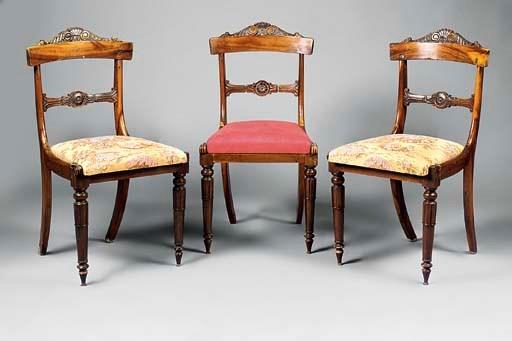A set of three George IV gonca